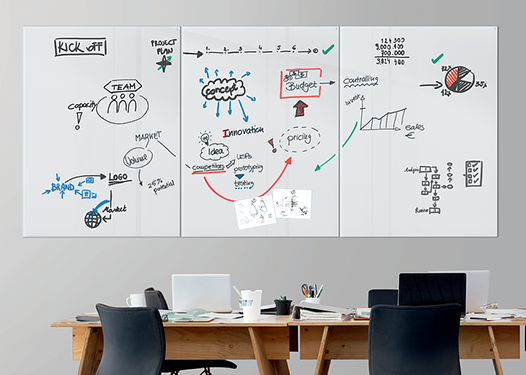 SIGEL Glas-Whiteboards Artverum
