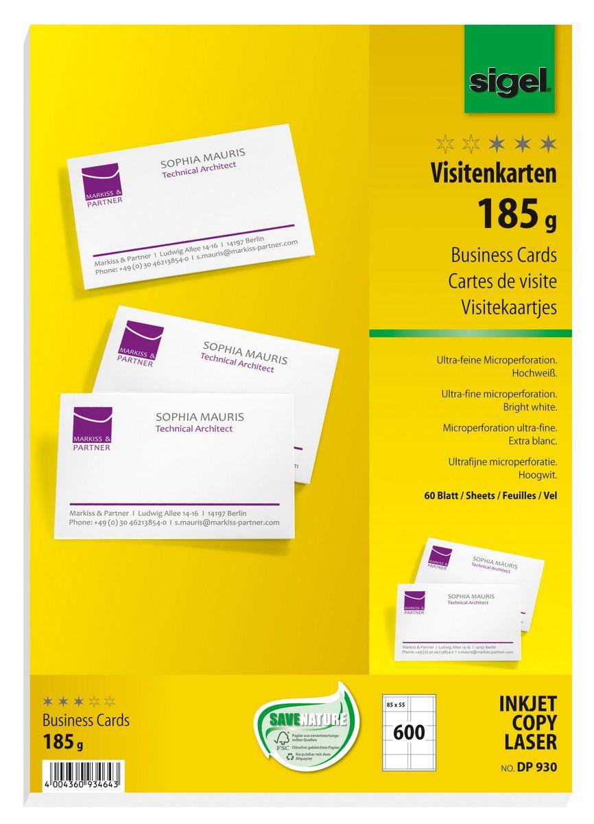 Visitenkarten Microperforiert Sigel