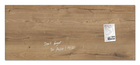 GL247-W-Glasmagnetboard-artverum-Design Natural-Wood