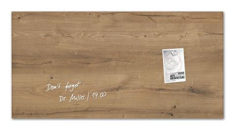 GL258-W-Glasmagnetboard-artverum-Design Natural-Wood