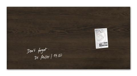 GL259-W-Glasmagnetboard-artverum-Design Dark-Wood