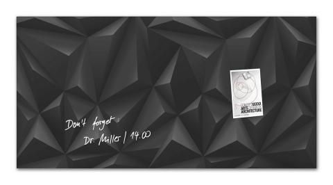 GL261-W-Glasmagnetboard-artverum-Design Black-Diamond