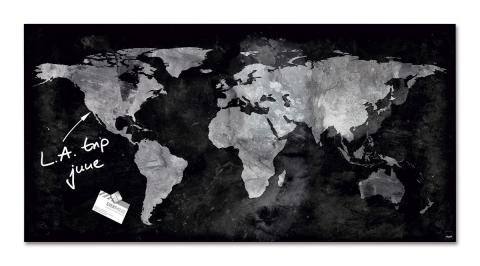 GL270-W-Glasmagnetboard-artverum-World-Map