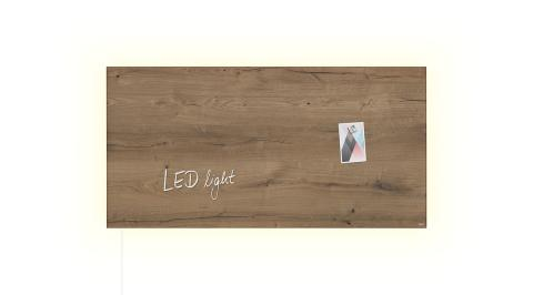 GL408-W-LED-Glasmagnetboard-artverum-Design Natural-Wood