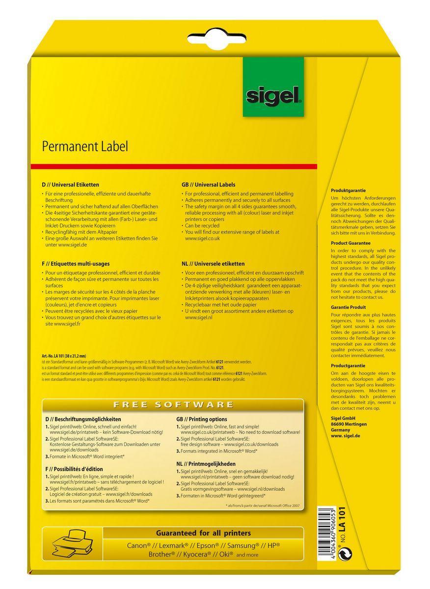 Universal Etiketten Sigel